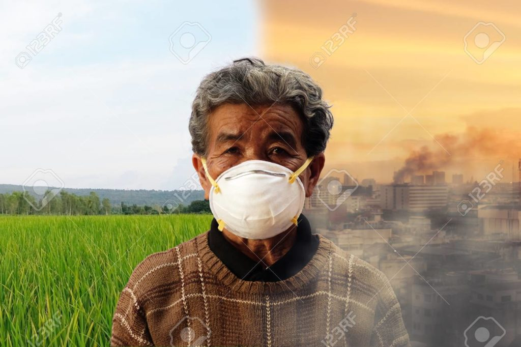 Old people wearing mask to prevent from corona virus, crave monger