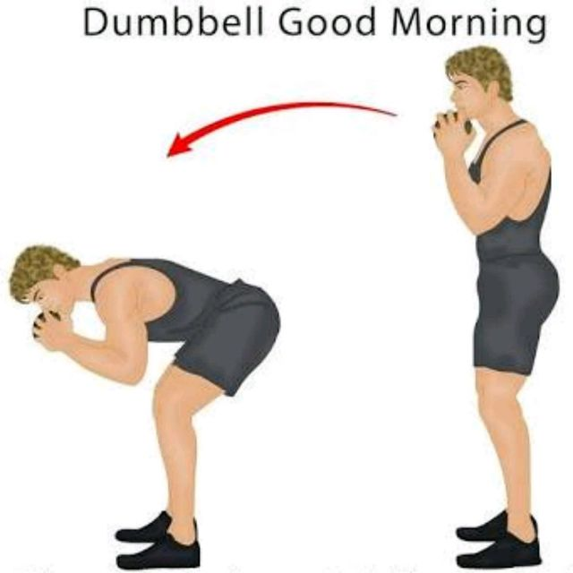 Dumbbell Good Morning exercise